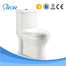 S-trap siphonic ready made one piece guangdong ceramic toilet