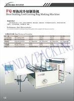 heat / hot sealing cool cutting plastic garbage / rubbish T shirt bag making machine