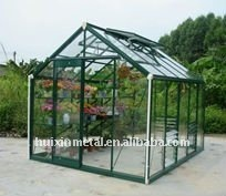 Villa residence with glass greenhouse cover bear heavy snow in winter for your backyard beautiful appearance HX98125G-1