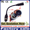 car rear view camera cable (4pin aviation female to s-video female cable)