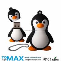 4G 8G 16G 32G 64G Penguin shape USB flash drive pen