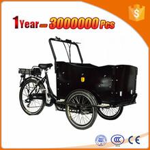 3 wheel mid-engine cargo bike family use