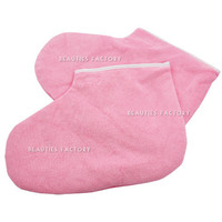 Beauties Factory Paraffin Wax Protection Leg Foot Gloves (Pink)