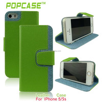 Latest OEM design leather flip case with belt clip for iphone 5