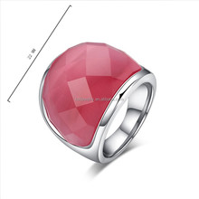 Fashion Jewelry Glass Engagement Ring Various Color Wedding Ring