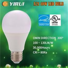 100~130lm/w E26/E27 AC 2700K 6000KAluminum Thermal plastic mixed body Dimmable led bulb