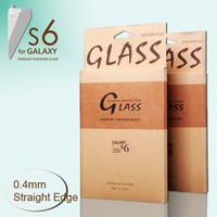 "JJL Tempered Glass Screen Guard For Samsung Galaxy S6 CDMA (0.4mm 5.1"" Straight Edge 9H HD Clear)"