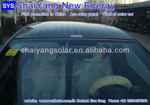 Arc solar panel for solar car roof/sunroof,electric car roof