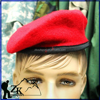 colorful high quality custom mens wool military beret