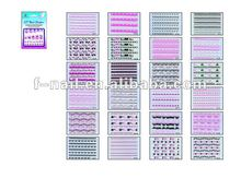 2012 new nail art french sticker french manicure nail stickers