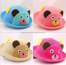 Baby girl straw hats,spanish straw hat,fishing straw hat