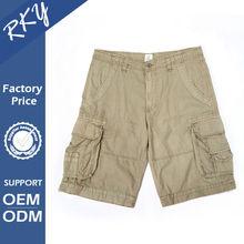 General Color Fade Proof 6 Pocket Cotton Mens Wholesale Cargo Shorts