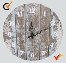 French style antique wooden wall clock home decoration