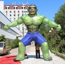 4m/13ft film inflatable character/Green giant inflatable/hulk-W1121