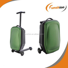 Best and hot selling scooter suitcase, scooter luggage with folding bag