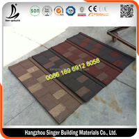 Stone Chip Coated Steel Roof Tile, aluminum zinc steel roofing tile, corrugated roofing sheets