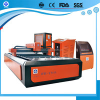 with Germany Reducer Taiwan Guide Rail 300w 500W 1kw reliable running CNC YAG metal laser cutting machinery