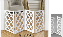 Hollow out folding wood indoor dog pet gate