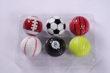 2 pieces Sports golf ball soccer ball ,basket ball gift ball