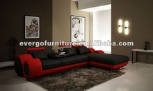 L shape leather sofa