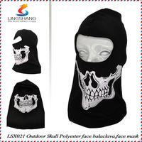 Elastic cotton&polyester balaclava hat skull full face mask ghost helmet