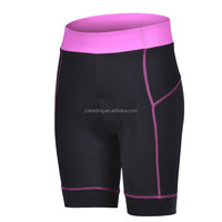 Wholesale Quick Dry Bicycle Pants Polyester+Lycra Silicone Pad Lycra Shorts
