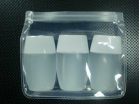 Eco-friendly Clear EVA Plastic Cosmetic Zipper Bags For Promotional Gift Packaging