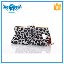 Cell phone wallet PU leather case cover for Samsung S6