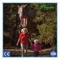 Zu Fuß mit t-rex dinosaurier kostüm