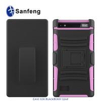 Hard Black Swivel Belt Clip Shell Holster Case Combo and Stand Cover For Blackberry Leap Z20