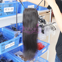 New Arrival Clip in Ponytail Long Hair Piece Malaysian Virgin Human Hair Drawstring Pony Tail Hair Extension Dropship
