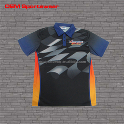 Slim fit cheap dry fit latest design polo racing shirt