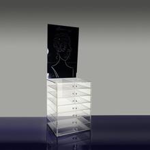 Custom fashion design clear glass jewelry display cabinet