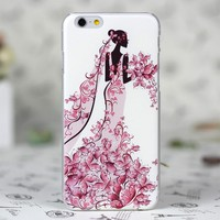 3D engraving uv printing sex girl cell phone case hard case for iphone cover 6 6S