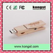 Wooden Clip USB 2.0 wood usb stick 8GB 16GB 32GB 64GB usb gift set new product pendrive