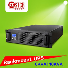 pure sine wave rack ups high frequency 6kva/10kva rack mount ups