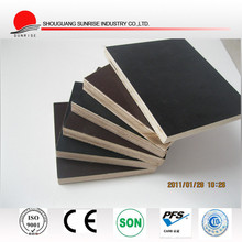 18mm black / brown film faced concrete shuttering plywood for building