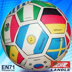 Colorful official size Rubber made size 4 football soccer ball