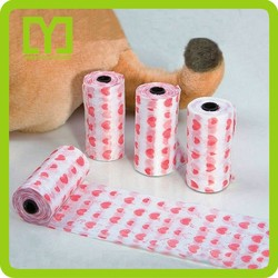 2015 Alibaba China wholesale custom made dog waste bags pack
