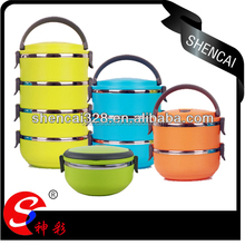 New Design Colorful Lunch Box/Insulated Tiffin Lunch Container/Bento