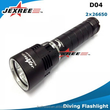 Jexree Scuba Diving CREE XML XM-L2 LED Diving Flashlight Submarine Light Lamp Underwater Torch