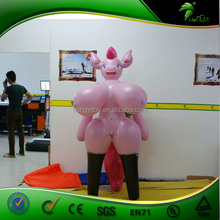 2015 OEM Good Quality Newest Large Durable Inflatable Cartoon Sexy Pigs/Vivid Inflatable Sexy Girl