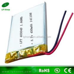mp3 sunglasses battery 403040 3.7v 430mah single lipo battery cell