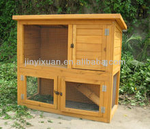 Large 2 Story Wooden Rabbit Hutch with Run / Rabbit House / Pet Cage