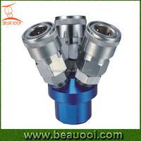 Air coupler, air manifold, 3-way valve