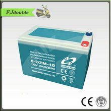 Alibaba China hot sale elecric vehicle /car/scooters battery 12v 10ah