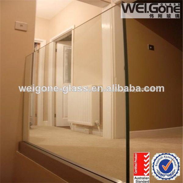 Precio de interior de vidrio balaustrada barandilla - Precio del vidrio ...