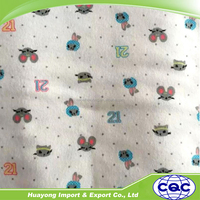 lovely baby reactive printed pattern flannel 100% cotton fabric