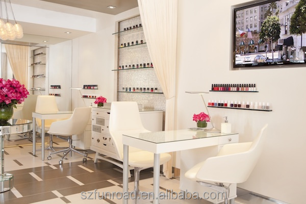 2016 Hotsale Fashionable Baking Painted Popular Nail Bar Interior