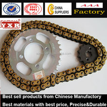 Motorcycle colored Chain and Sprocket Kit for DY, motorcycle chain and sprocket for Honda